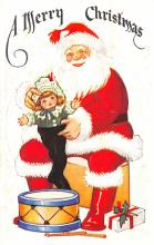 hol018587 - Santa Claus Christmas Old Vintage Antique Postcard
