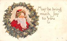 hol018595 - Santa Claus Christmas Old Vintage Antique Postcard