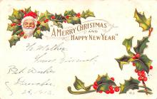 hol018597 - Santa Claus Christmas Old Vintage Antique Postcard