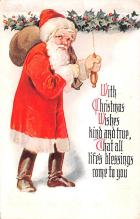 hol018601 - Santa Claus Christmas Old Vintage Antique Postcard
