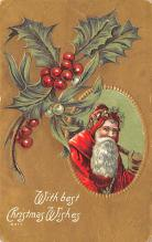 hol018605 - Santa Claus Christmas Old Vintage Antique Postcard