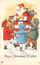 hol018611 - Santa Claus Christmas Old Vintage Antique Postcard