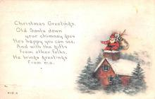 hol018613 - Santa Claus Christmas Old Vintage Antique Postcard