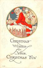 hol018617 - Santa Claus Christmas Old Vintage Antique Postcard