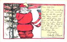 hol018619 - Santa Claus Christmas Old Vintage Antique Postcard