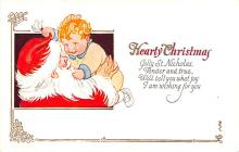 hol018621 - Santa Claus Christmas Old Vintage Antique Postcard