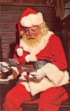 hol018627 - Santa Claus Christmas Old Vintage Antique Postcard