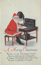 hol018629 - Santa Claus Christmas Old Vintage Antique Postcard