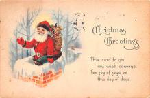 hol018631 - Santa Claus Christmas Old Vintage Antique Postcard