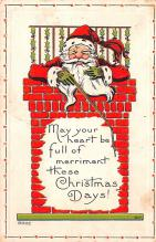 hol018633 - Santa Claus Christmas Old Vintage Antique Postcard