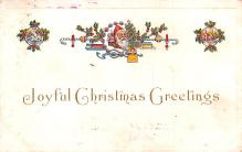hol018635 - Santa Claus Christmas Old Vintage Antique Postcard