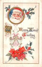 hol018637 - Santa Claus Christmas Old Vintage Antique Postcard
