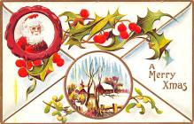 hol018639 - Santa Claus Christmas Old Vintage Antique Postcard