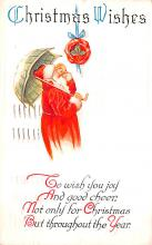 hol018641 - Santa Claus Christmas Old Vintage Antique Postcard