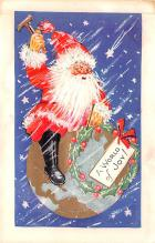 hol018651 - Santa Claus Christmas Old Vintage Antique Postcard