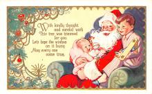 hol018659 - Santa Claus Christmas Old Vintage Antique Postcard