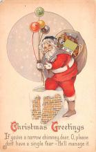 hol018661 - Santa Claus Christmas Old Vintage Antique Postcard