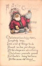 hol018663 - Santa Claus Christmas Old Vintage Antique Postcard
