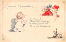 hol018665 - Santa Claus Christmas Old Vintage Antique Postcard