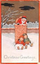 hol018669 - Santa Claus Christmas Old Vintage Antique Postcard