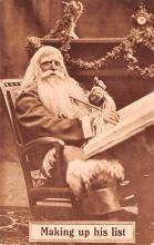 hol018671 - Santa Claus Christmas Old Vintage Antique Postcard