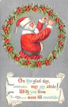 hol018673 - Santa Claus Christmas Old Vintage Antique Postcard