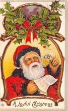 hol018683 - Santa Claus Christmas Old Vintage Antique Postcard