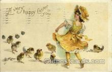 hol030108 - Artist Ellen Clapsaddle, Happy Easter Postcard Post Cards