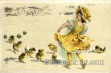 hol030116 - Artist Ellen Clapsaddle, Happy Easter Postcard Post Cards