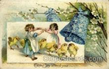 hol030142 - Artist Ellen Clapsaddle, Happy Easter Postcard Post Cards