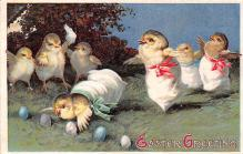 hol032027 - Artist Ellen Clapsaddle Easter Post Card