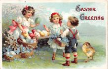 hol032028 - Artist Ellen Clapsaddle Easter Post Card