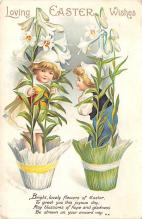 hol032084 - Artist Ellen Clapsaddle Easter Post Card