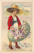hol032100 - Artist Ellen Clapsaddle Easter Post Card