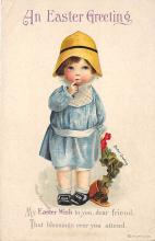hol032103 - Artist Ellen Clapsaddle Easter Post Card