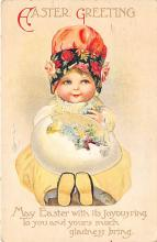 hol032110 - Artist Ellen Clapsaddle Easter Post Card