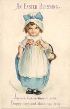hol032115 - Artist Ellen Clapsaddle Easter Post Card