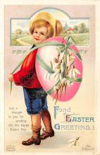 hol032120 - Artist Ellen Clapsaddle Easter Post Card