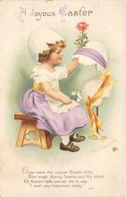 hol032202 - Artist Ellen Clapsaddle Easter Post Card