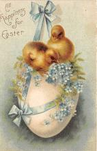 hol032218 - Artist Ellen Clapsaddle Easter Post Card