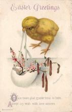 hol032219 - Artist Ellen Clapsaddle Easter Post Card