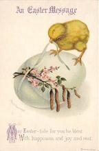 hol032220 - Artist Ellen Clapsaddle Easter Post Card