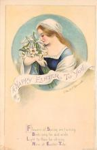 hol032324 - Artist Ellen Clapsaddle Easter Post Card