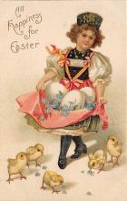 hol032325 - Artist Ellen Clapsaddle Easter Post Card