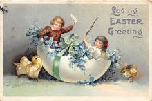 hol032349 - Artist Ellen Clapsaddle Easter Post Card