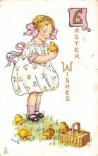 hol033005 - Easter Postcard, Old Vintage Antique Post Card