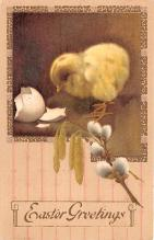hol033007 - Easter Postcard, Old Vintage Antique Post Card
