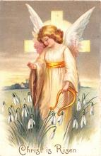 hol033009 - Easter Postcard, Old Vintage Antique Post Card