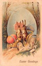 hol033011 - Easter Postcard, Old Vintage Antique Post Card