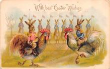 hol033037 - Easter Postcard, Old Vintage Antique Post Card
